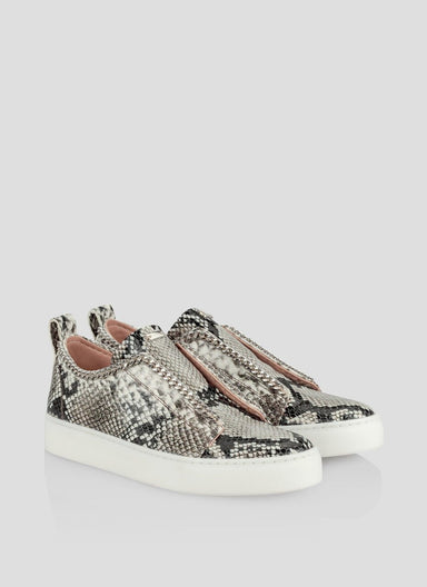 ESCADA Python Leather Sneakers