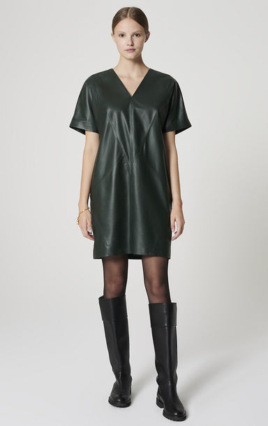 ESCADA Leather Dress