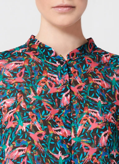 Bird Printed Viscose Tunic - ESCADA
