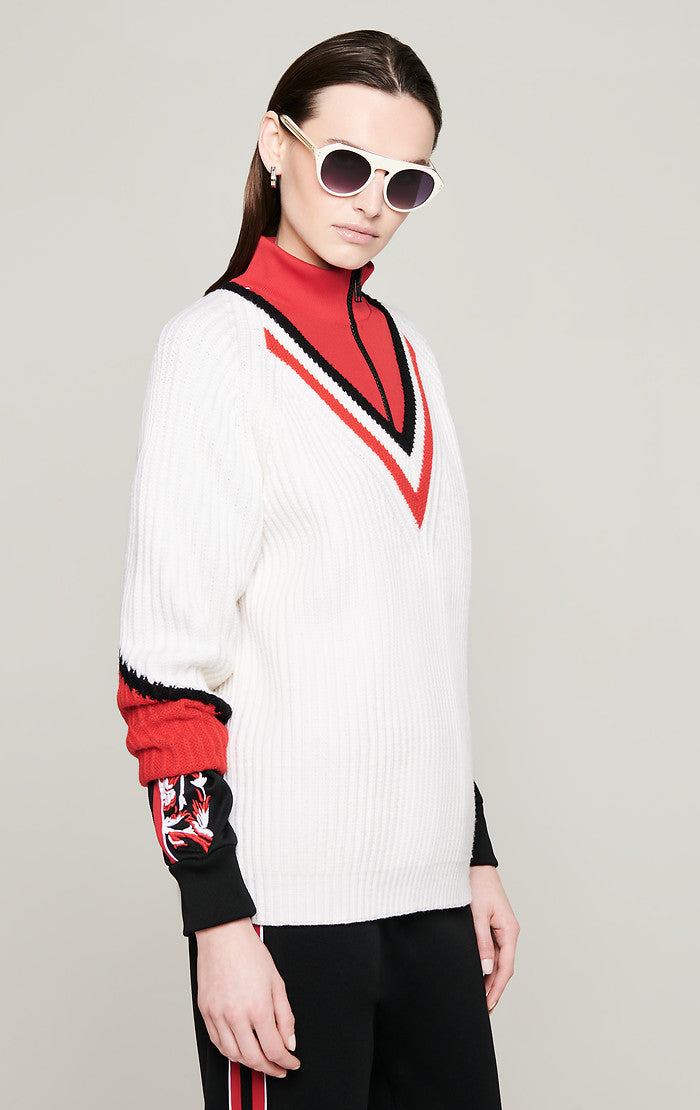ESCADA Wool Oversized V-Neck Sweater