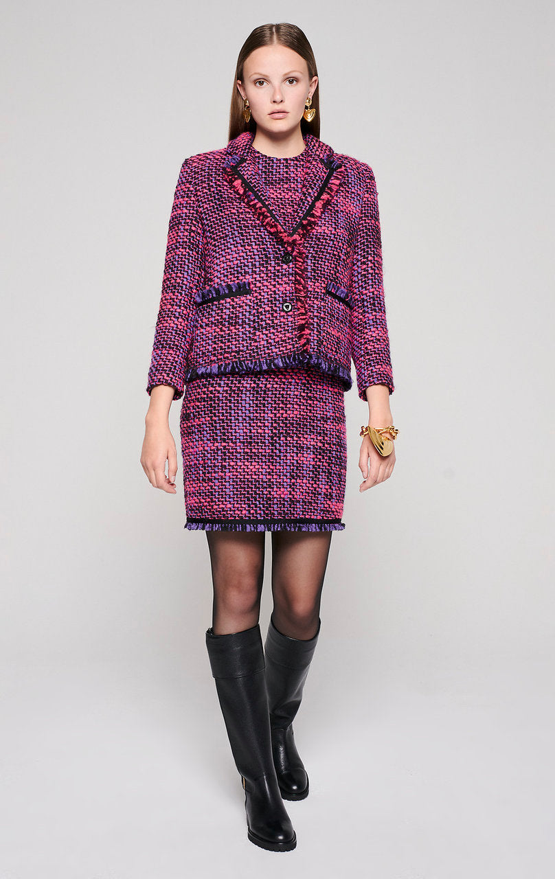ESCADA Wool Blend Tweed Dress