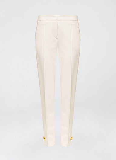 Techno stretch pant with hammered gold detail - ESCADA