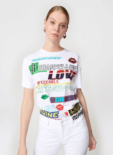 ESCADA Sequin Multi Logo T-shirt