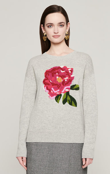 Wool Cashmere Embroidered Sweater - ESCADA