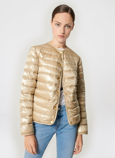 Satin Quilted Down Jacket - ESCADA