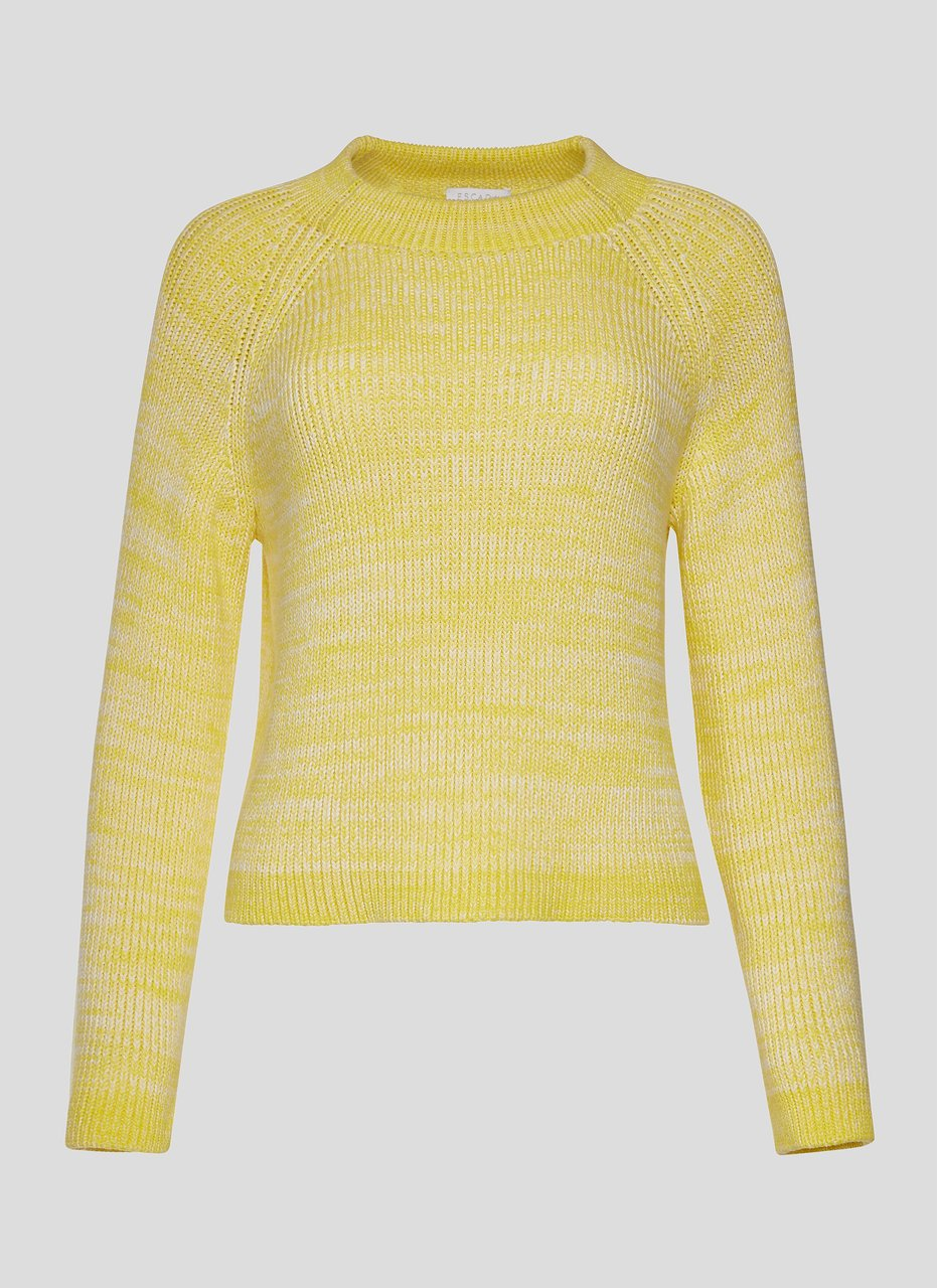 Cotton Knit Boxy Sweater - ESCADA