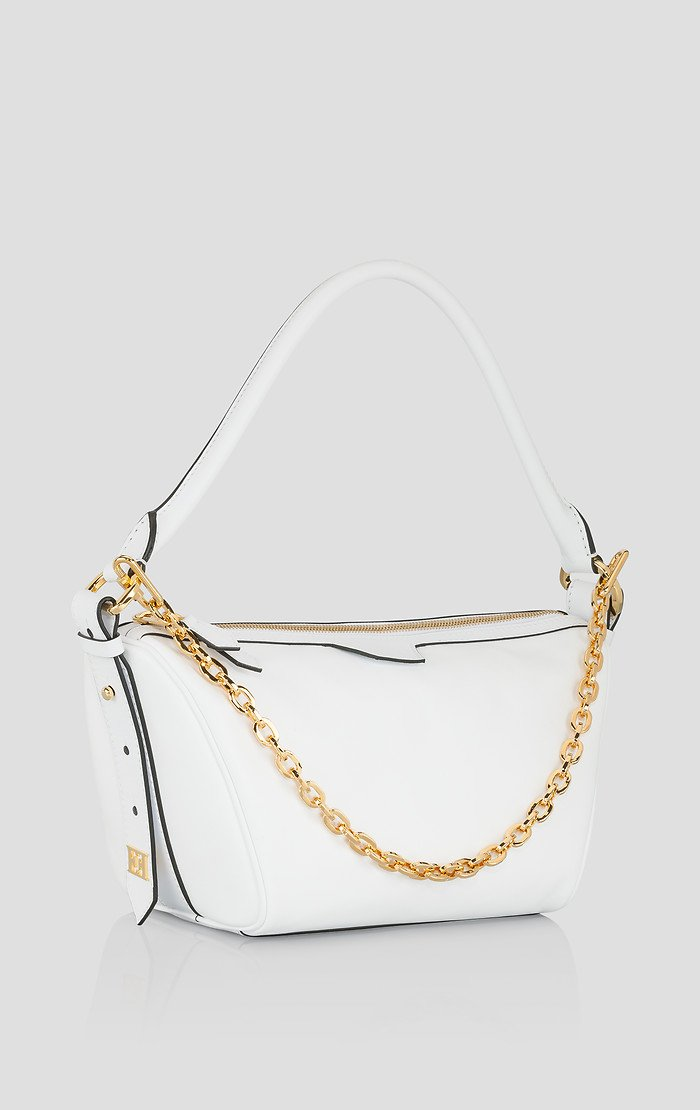 ESCADA Leather Chain Trim Handbag