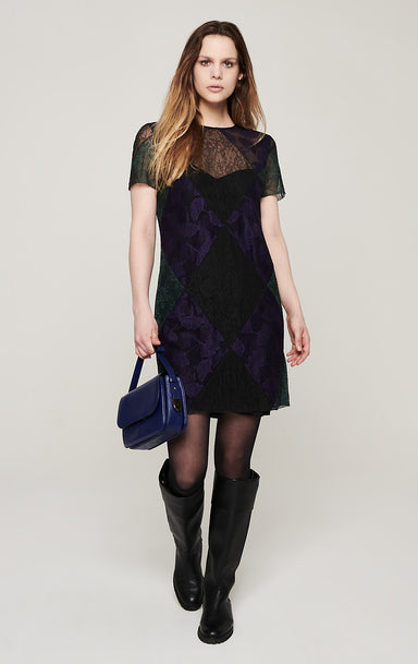 ESCADA Lace Patchwork Dress