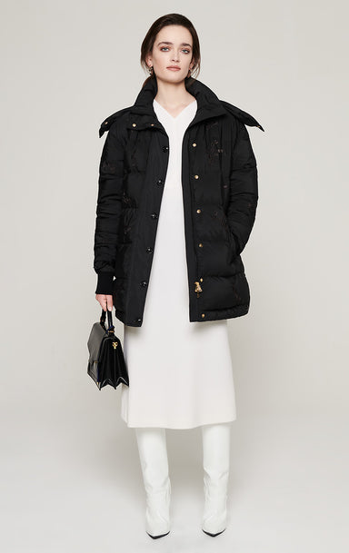 Hooded Down Puffer Jacket - ESCADA