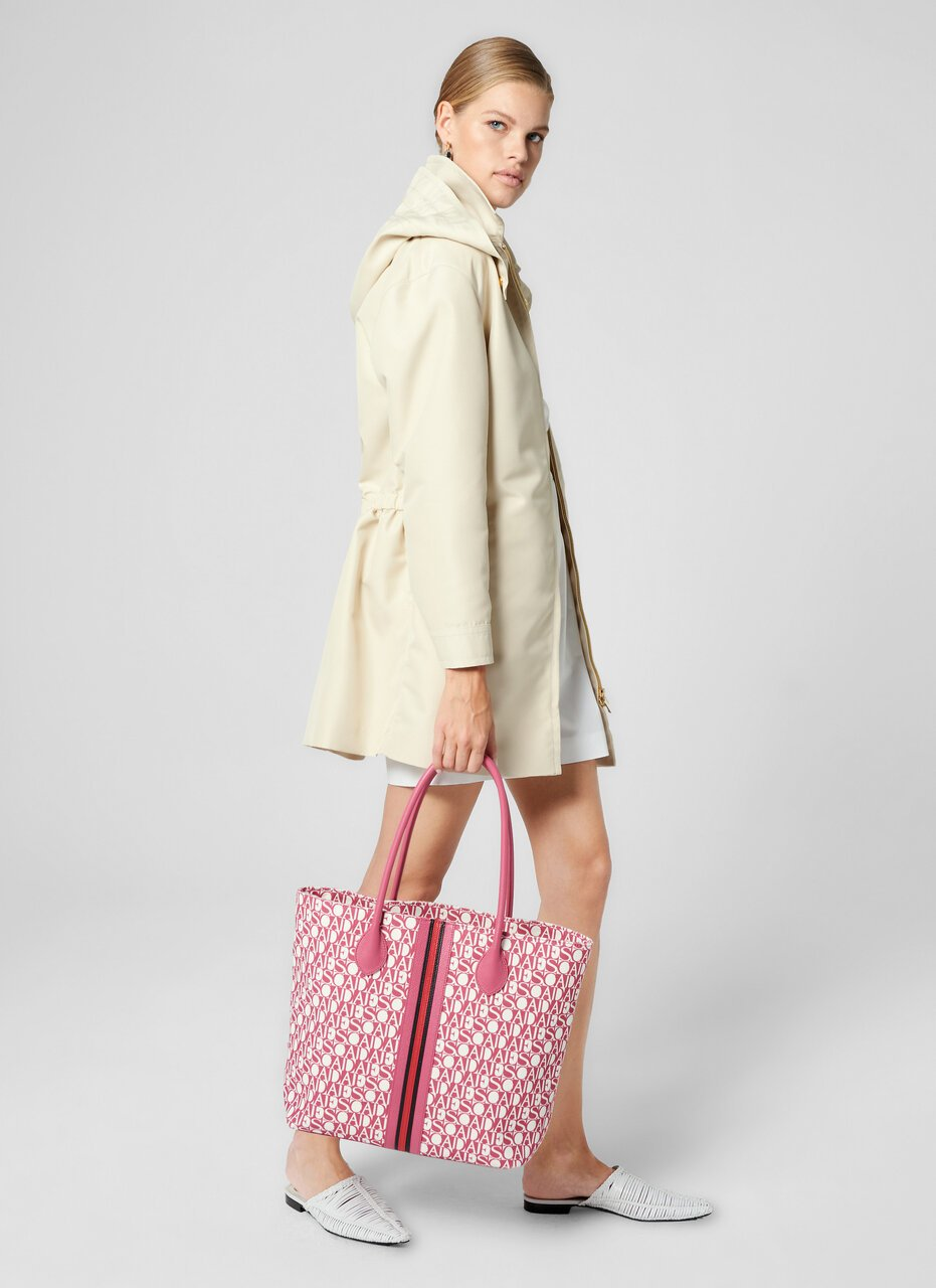 ESCADA Canvas and Leather Tote Bag