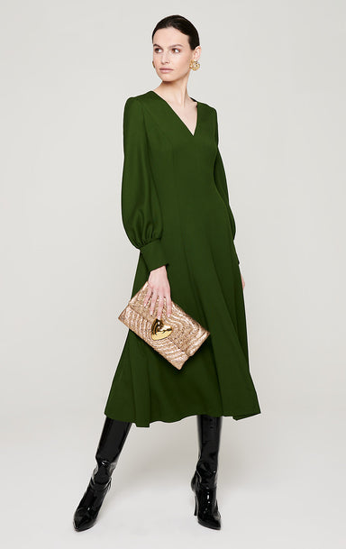 ESCADA Wool Twill Longsleeve Dress