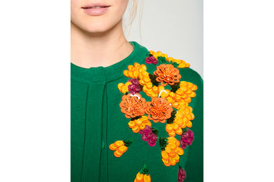 Wool Embroidered Cardigan - ESCADA
