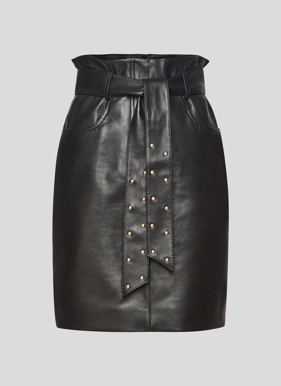 Leather Belted Pencil Skirt - ESCADA