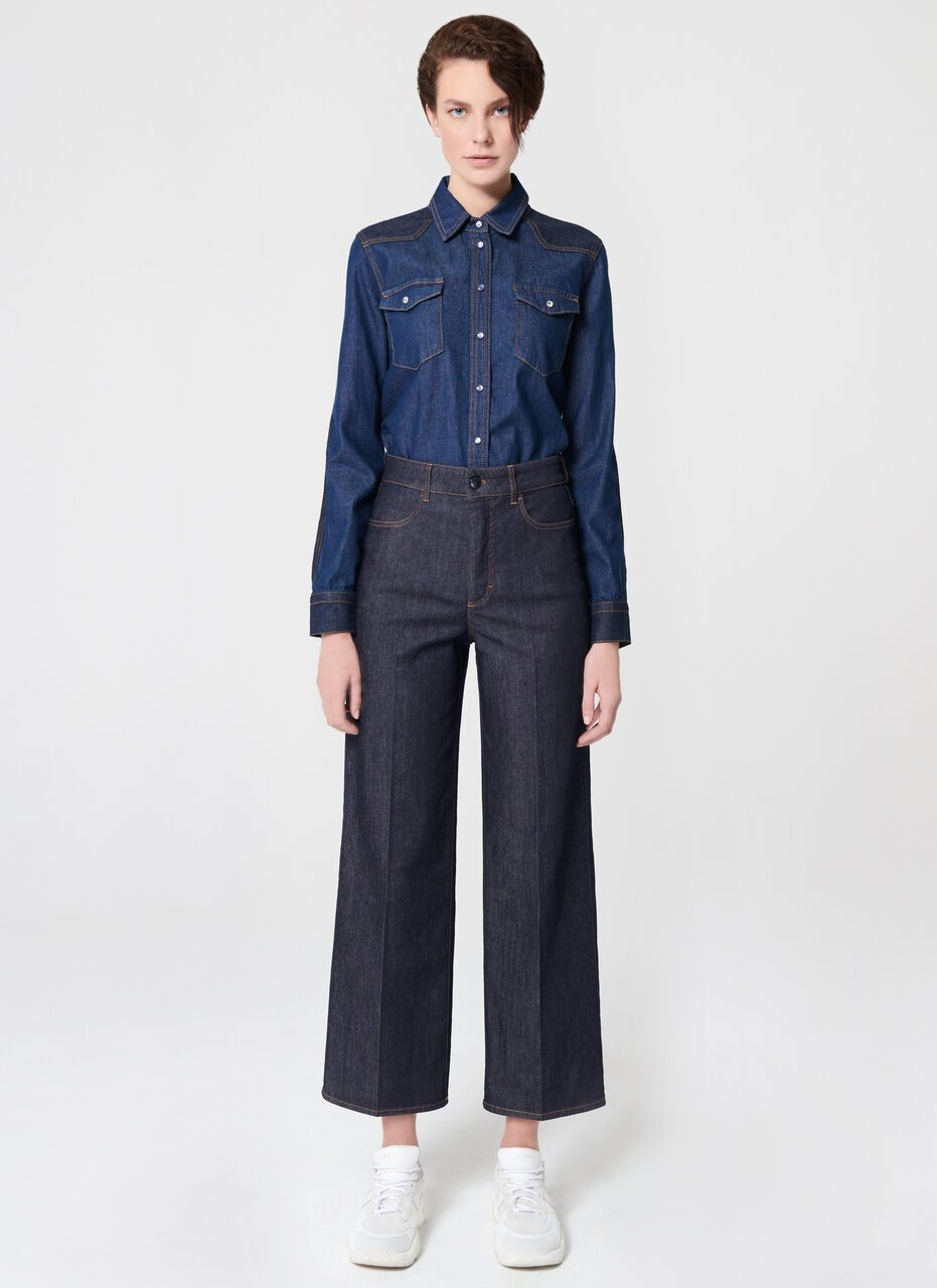 ESCADA Fashionable Blue Cotton Stretch Denim