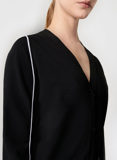 ESCADA Stripe Detail V-Neck Cardigan