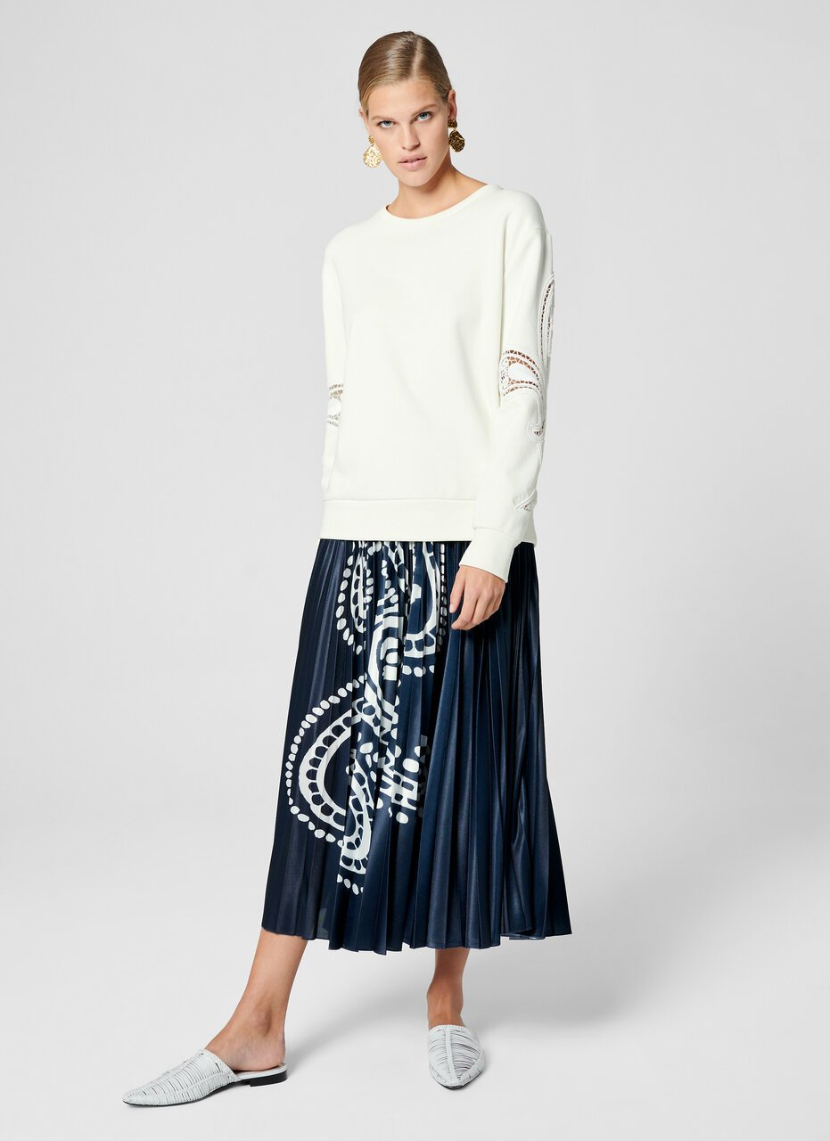 Paisley Embroidered Sweatshirt - ESCADA
