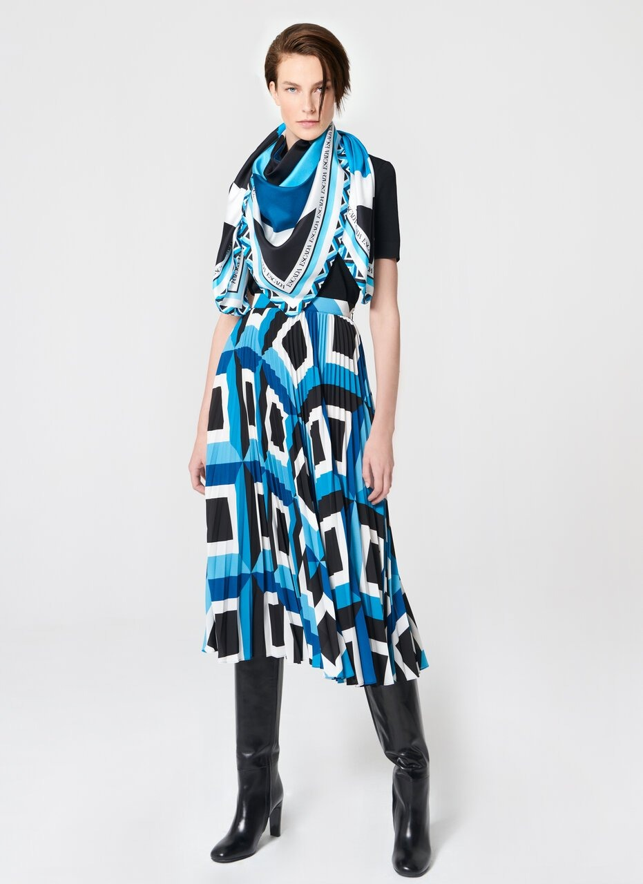 ESCADA Graphic printed Silk scarf