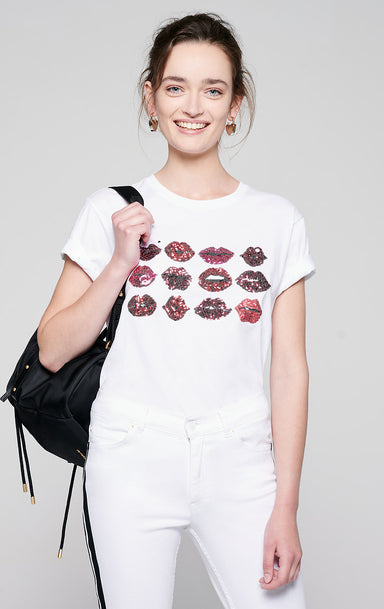 Sequin-Embroidered T-shirt - ESCADA