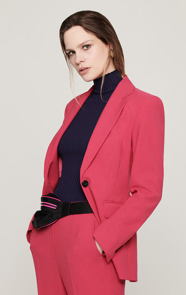 Wool Blend Double-Face Blazer - ESCADA