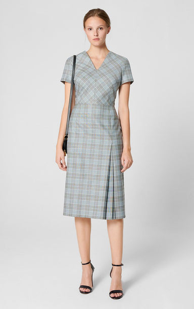 Wool Silk Check Dress - ESCADA