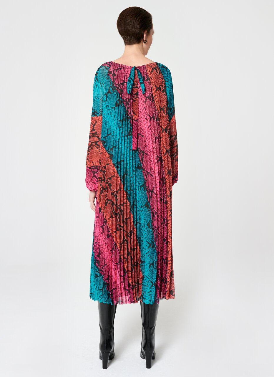 Multicolor Plissee Maxi Dress - ESCADA