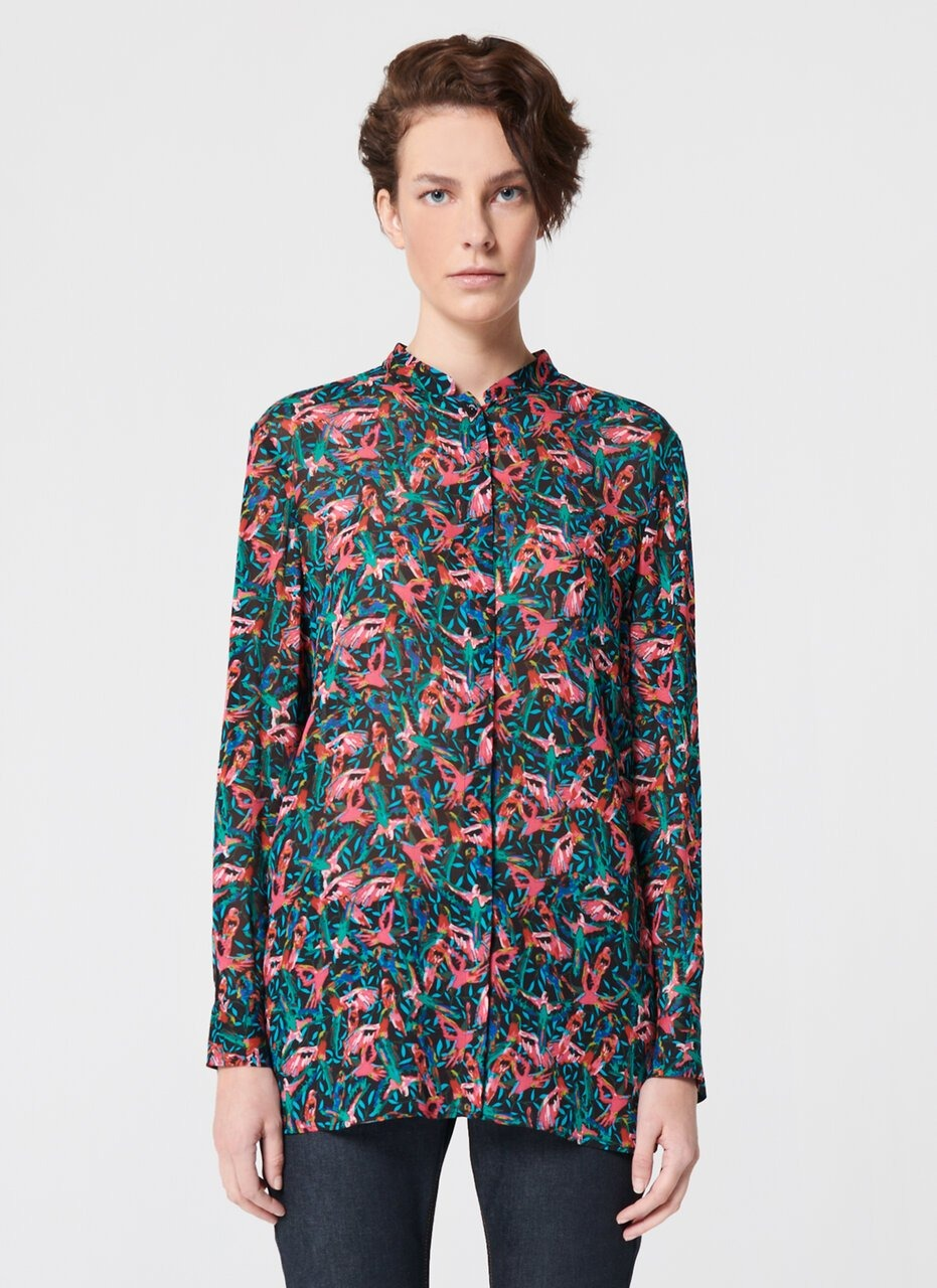 ESCADA Bird Printed Viscose Tunic