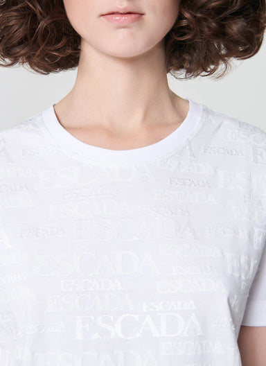 T-Shirt with logo design - ESCADA