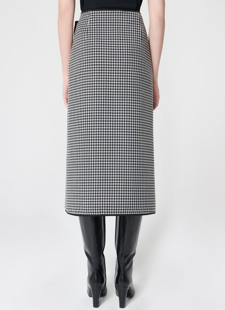 ESCADA Doubleface wool wrap skirt