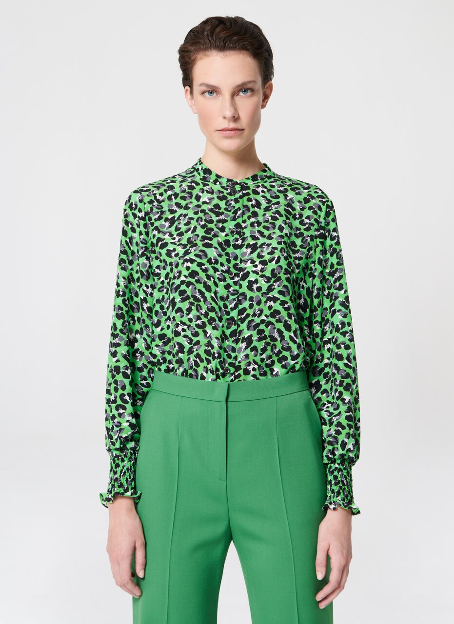 Printed silk georgette blouse - ESCADA