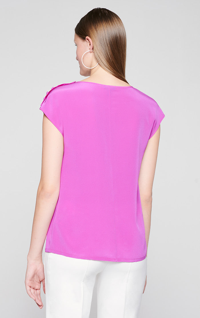 ESCADA Silk Button-Detail Top
