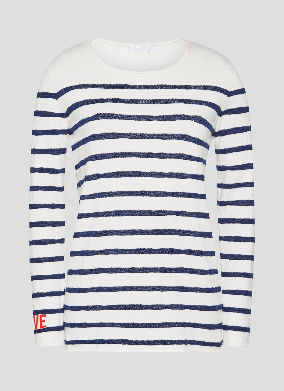 ESCADA Cotton Breton Stripe Sweater