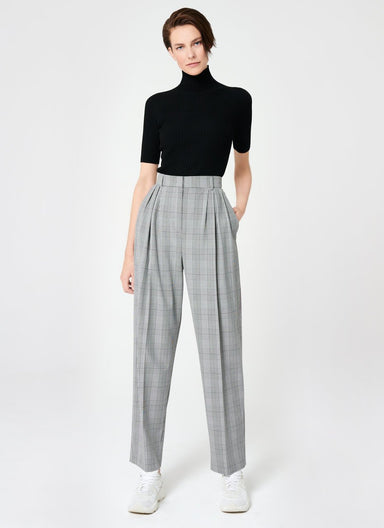 ESCADA Fashionable Viscose Stretch Check Pants