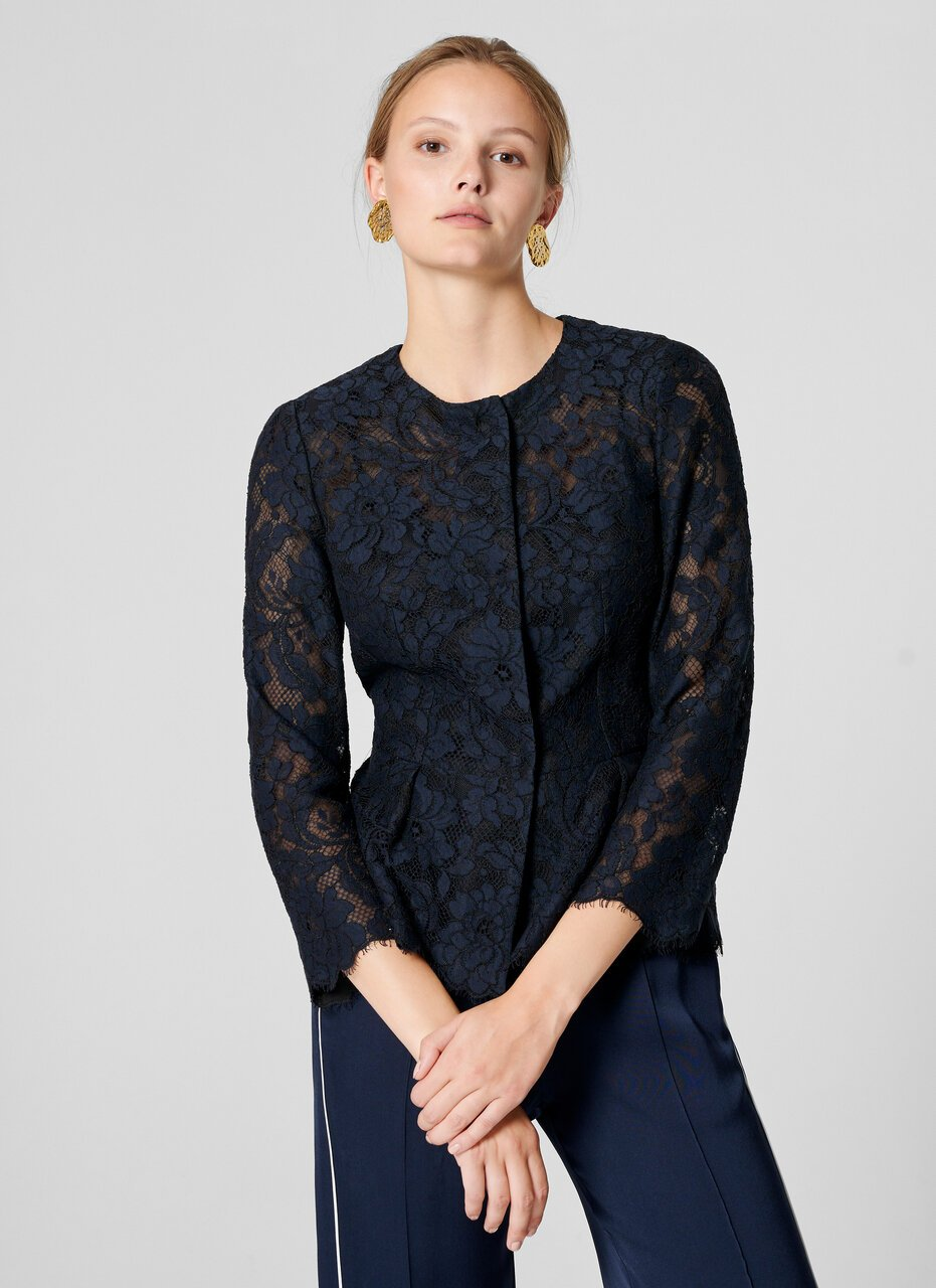 ESCADA Cotton Blend Lace Jacket