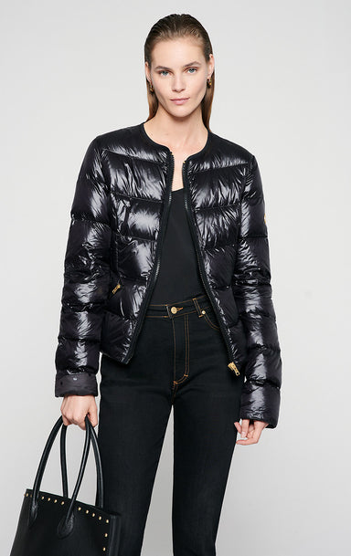 Glossy Quilted Down Jacket - ESCADA