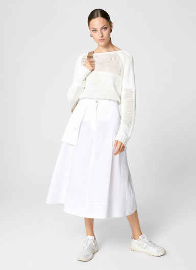 ESCADA Cotton Poplin A-Line Skirt