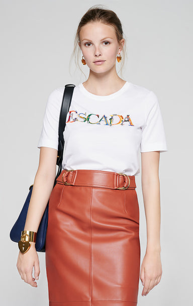 Embroidered Logo T-shirt - ESCADA