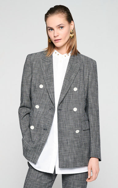 Cotton Wool Check Blazer - ESCADA