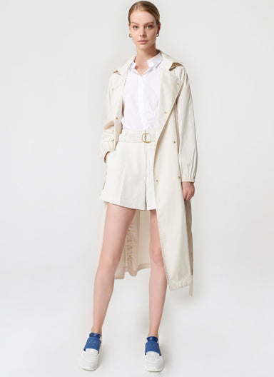 Transseasonal Cotton Trench Coat - ESCADA