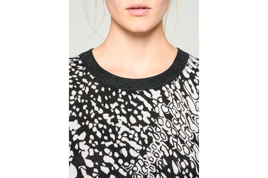 Silk Trim Printed Sweater - ESCADA