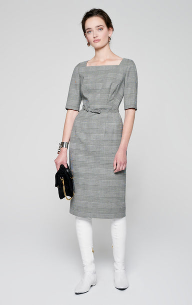 ESCADA Virgin Wool Check Dress
