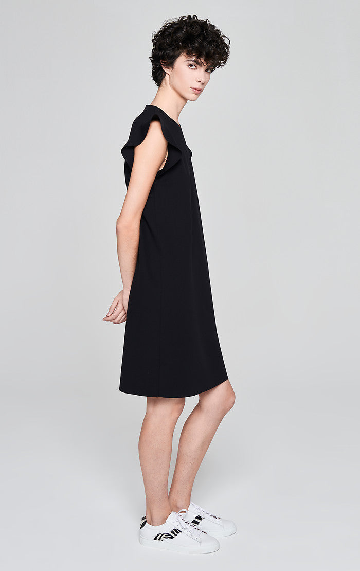 ESCADA Jersey Ruffle Trim Dress