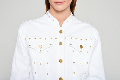 Studded Denim Jacket - ESCADA