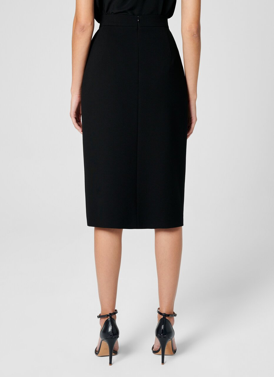 Jersey Button-Detail Pencil Skirt