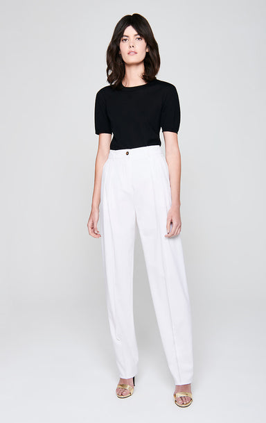 ESCADA Wool Satin Trim Pants