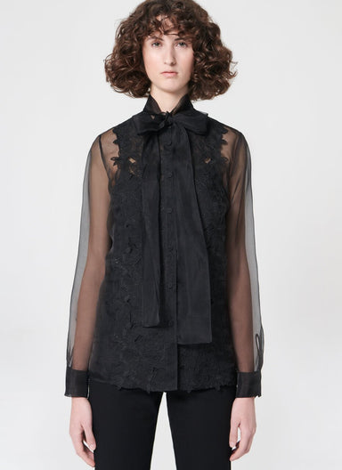 Highlight silk organza lace blouse - ESCADA