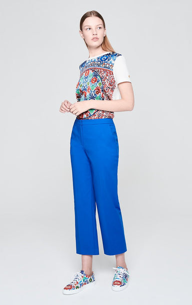 Cotton Stretch Straight Pants - ESCADA