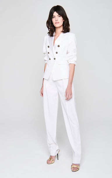 Wool Satin Trim Pants - ESCADA