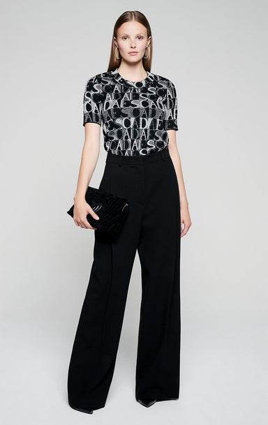 Wool Crepe Wide Leg Pants - ESCADA