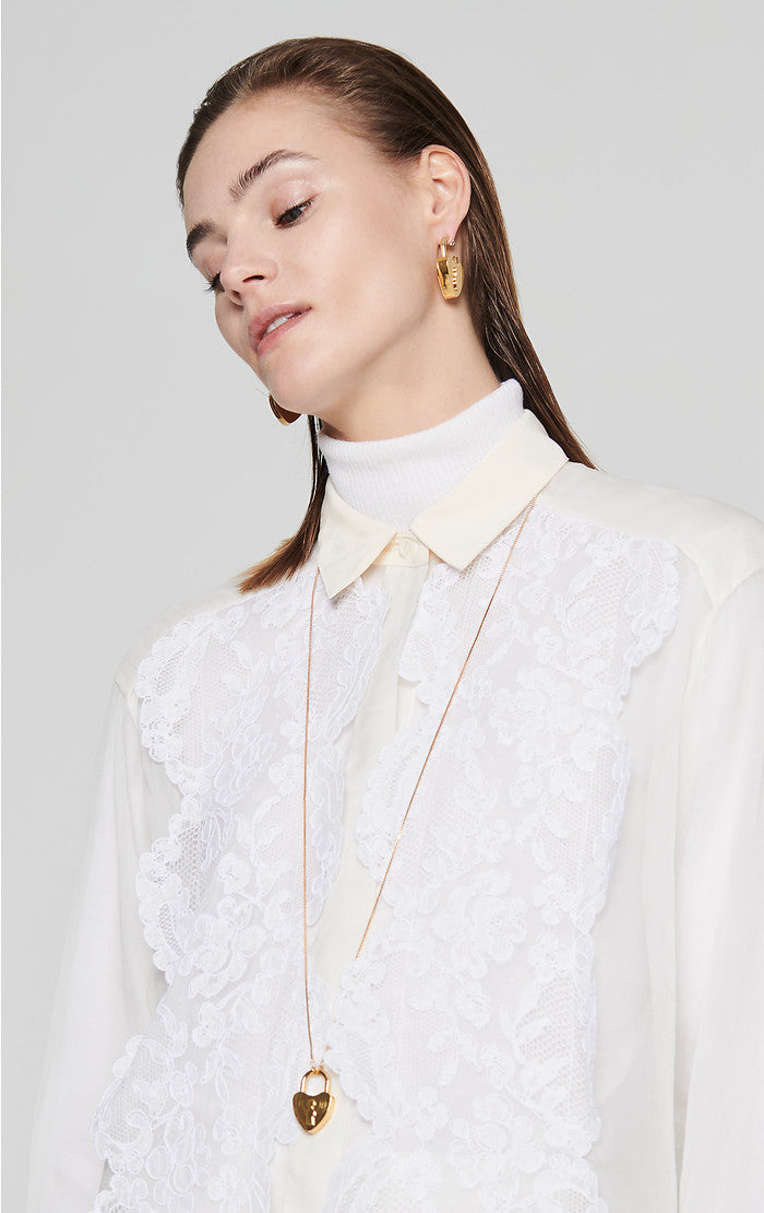 ESCADA Residency Collection - Silk and Lace Blouse