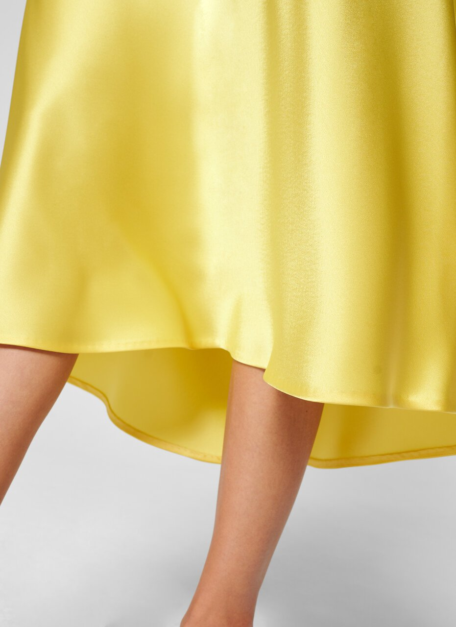 ESCADA Satin Midi Skirt